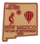 New Mexico The Land of Enchantment State Map Fridge Magnet