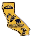 California the Golden State Map Fridge Magnet