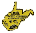 West Virginia The Mountain State Map Fridge Magnet