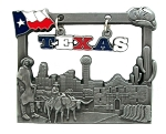Texas with Sign Metal Fridge Magnet