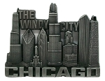 Chicago The Windy City Skyline Metal Fridge Magnet