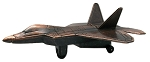 F-22 Joint Strike Fighter Jet Die Cast Metal Collectible Pencil Sharpener