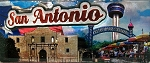 San Antonio with Raised Icon Fridge Magnet