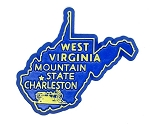 West Virginia The Mountain State Fridge Magnet