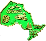 Ontario Map Fridge Magnet