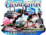 Charleston West Virginia Montage Artwood Fridge Magnet