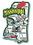 Mississippi Jumbo State Map Fridge Magnet