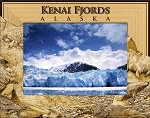Kenai Fjords Alaska Laser Engraved Wood Picture Frame (5 x 7)
