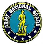 Army National Guard Round Fridge Magnet