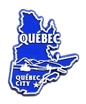 Quebec Canadian Province Outline Fridge Magnet