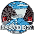 Hoover Dam Round Fridge Magnet