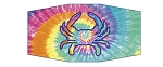 Maryland Blue Crab Tie Dye Design Unisex Face Mask