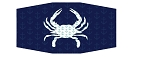 2-Pack Maryland Blue Crab with Anchor Design Unisex Face Masks