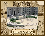United States Naval Academy Engraved Wood Picture Frame (5 x 7)
