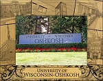 University of Wisconsin Oshkosh Engraved Wood Picture Frame (5 x 7)