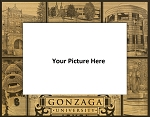 Gonzaga University Laser Engraved Wood Picture Frame (5 x 7)