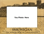 Michigan Technological University Laser Engraved Wood Picture Frame (5 x 7)