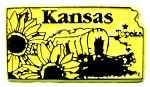 Kansas Topeka United States Fridge Magnet