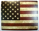 Rustic American Flag Mouse Pad