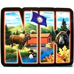 New Hampshire Artwood Initial Fridge Magnet