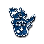 Quebec Map Fridge Magnet
