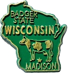 Wisconsin The Badger State Souvenir Fridge Magnet