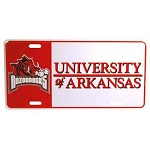 Arkansas Razorbacks Block Plate-NCAA