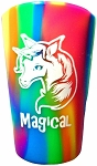 Tie Dyed Magical Unicorn Silicone Shot Glass