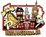 Philadelphia Pennsylvania Montage Fridge Magnet