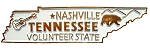Tennessee the Volunteer State Souvenir Fridge Magnet