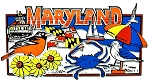 Maryland Collage Rectangle Fridge Magnet