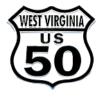 Route 50 West Virginia Road Sign Fridge Magnet