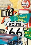 Historic Route 66 3D Fridge Magnet