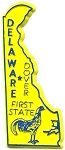 Delaware The First State Fridge Magnet
