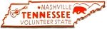 Tennessee The Volunteer State Fridge Magnet