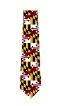 Maryland Flag Polyester Neck Tie Design 10
