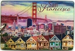 San Francisco with Row Houses Double Sided 3D Key Chain