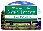 New Jersey State Welcome Sign Artwood Fridge Magnet