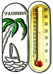 Florida with Sailboat Thermometer Fridge Magnet