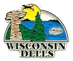 Wisconsin Dells 6 Color Fridge Magnet