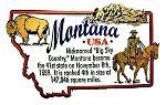 Montana Big Sky Country State Outline Montage Fridge Magnet