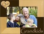Our Grandkids Laser Engraved Wood Picture Frame