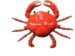 Virginia Beach Wiggly Crab Fridge Magnet