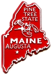 Maine State Outline Fridge Magnet