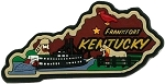 Kentucky Multi Color Fridge Magnet