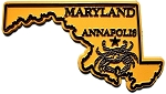 Classic Maryland with Crab Fridge Magnet