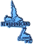 Newfoundland Canadian Province Outline Fridge Magnet