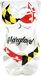 Full Body Maryland Flag Bikini Shot Glass