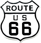 Route 66 Road Sign Fridge Magnet