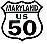 Route 50 Maryland Road Sign Fridge Magnet